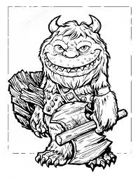 100 scary monster coloring pages 110 best horror coloring pages