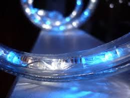 50ft blue led rope light kit 3 8 inch