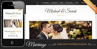 wedding site 5 best responsive wedding website templates designmaz