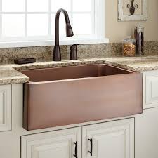 sinks tile in copper farmhouse sink medium antique copper beige