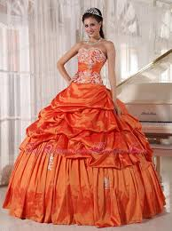 orange quinceanera dresses quinceanera dress sweetheart taffeta appliques ruch