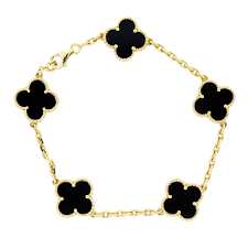 gold onyx bracelet images Van cleef onyx bracelet 2 raymond lee jewelers jpg