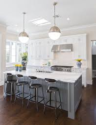 grey kitchen island white with blue grey island contrast white cabinets and counters