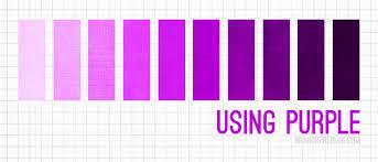 different colors of purple using purple palettes et mélanges de couleurs pinterest purple