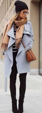 light blue trench coat light blue plain belt lapel v neck long sleeve fashion trench coat