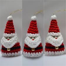 ravelry crochet santa ornament pattern by aneta izabela