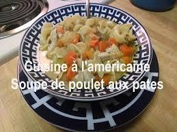 recette traditionnelle cuisine americaine soupe de poulet aux pâtes chicken noodle soup recette