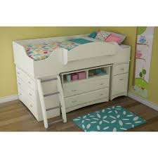 Kids Storage Beds With Desk South Shore Imagine Twin Wood Kids Loft Bed 3576a3 The Home Depot