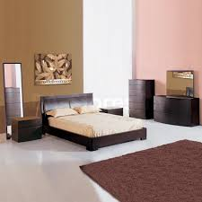 Solid Wood Modern Bedroom Furniture 2 229 00 Maya 5 Pc Solid Wood Platform Bedroom Set In Teak Bed