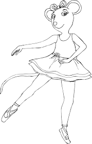 awesome angelina ballerina coloring pages 51 additional free