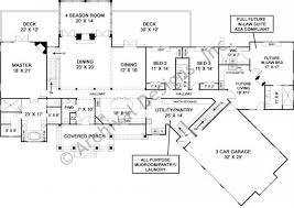 in suite plans luxury ranch house plan with accessible in suite floor
