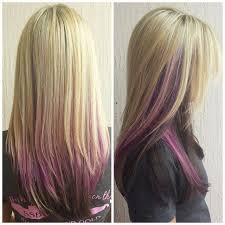 dark hair underneath light on top love the light on top darker underneath but not the purple for