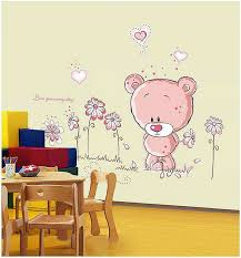 Cute Teddy Bear Children Wall Stickers Animals Bedroom Wall - Kids rooms decals