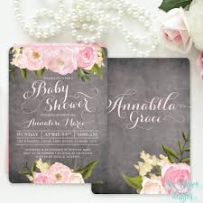 baby shower invitation floral baby shower invite