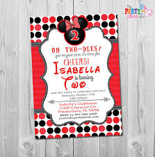 oh twodles invitation oh twodles birthday minnie mouse