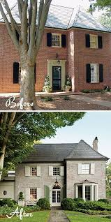 red brick to french country paint new entry u0026 window with