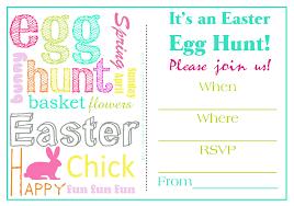 easter egg hunt invitation templates for free u2013 happy easter 2017