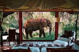 chambre style africain safari sur un plateau