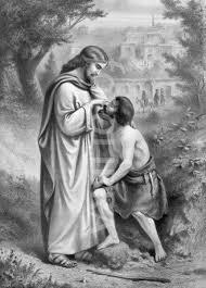 Christ Healing The Blind Christ Heals Blind Man