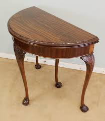 Half Moon Side Table Mahogany Half Moon Side Table Card Table Antiques Atlas