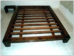 Raised Platform Bed Frame Elevated Bed With Storage Wooden Raised Platform Bed With Storage