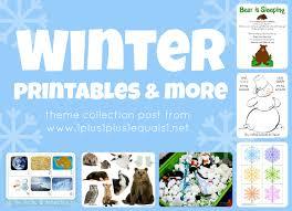 winter theme printables u0026 more 1 1 1 u003d1