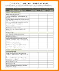 event checklist template resume template
