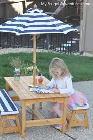 Kids Patio Umbrella Kidkraft Outdoor Table And Chair Set For Children 159 My Frugal