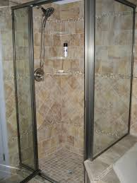 Built In Shower by Bathroom Corner Shower Enclosure With White Acrylic Walk In