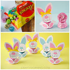 reese s easter bunny reeses peanut butter cup easter bunnies crafty morning
