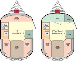 the 2 floor plans for the 13 u0027 scamp trailer scamping pinterest