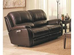 Powered Reclining Sofa Bassett Godfrey 3700 P62r Brown Leather Power Reclining Sofa