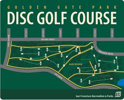 Outsidelands Map Golden Gate Park Disc Golf Course Map Golden Gate Park San
