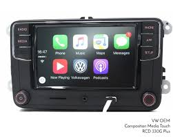 vw genuine composition media apple carplay iphone ios rear cam