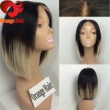 hair extensions for bob haircuts soft malaysian virgin hair ombre bob wig color60 middle part bob