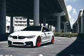 modified bmw m4 bmw m4 with red adv10 mv 2 cs wheels installed