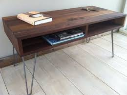 mid century modern coffee and end tables design of mid century