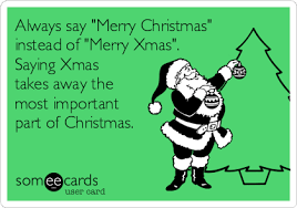 always say merry instead of merry saying