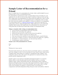 letter of recommendation for a friend bio example