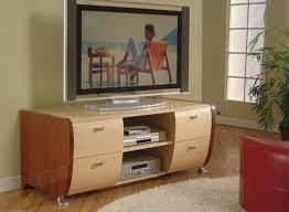 cherry u0026 beech two tone high gloss finish modern tv stand