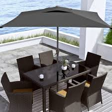 Overstock Patio Umbrella Corliving Square Patio Umbrella Free Shipping Today Overstock