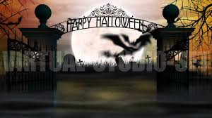 halloween graveyard background cemetery gates halloween projection youtube