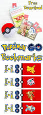 pokémon go bookmarks free printable download