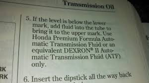 non honda automatic transmission fluid page 2 honda tech