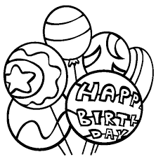 balloons colouring page happy colouring