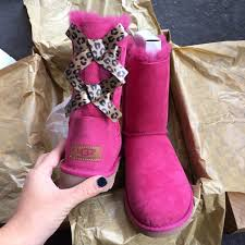 ugg bailey bow sale size 7 40 ugg shoes ugg authentic bailey bow leopard boots sz 7