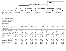 daily behavior report template behavior contracts and checklists that work scholastic