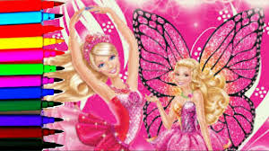 sparkle barbie coloring book pages barbie mariposa sparkle fairy