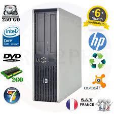 ordinateur de bureau en wifi hp ordinateur bureau dc7900 e5200 2 5ghz wifi 2go 250go windows 7