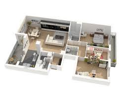 plan appartement 3 chambres quai 32 bouygues immobilier belgique